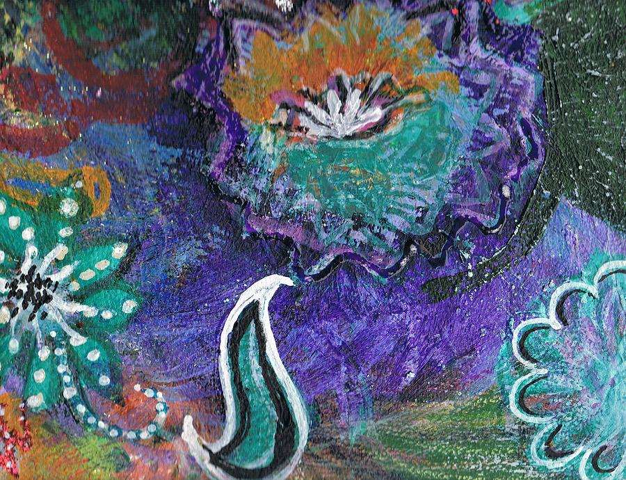 Acrylics Mixed Media - Whimsy Dance by Anne-Elizabeth Whiteway
