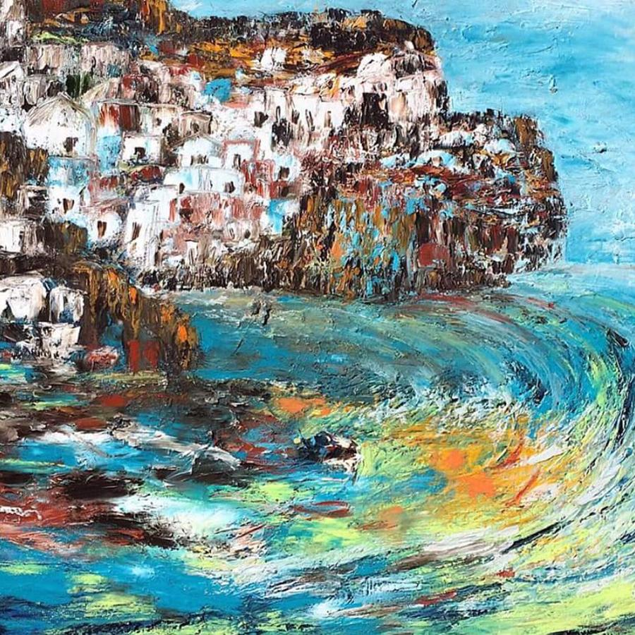 Whirlpool Of The Greek Economy Painting by Mariam Qureshi