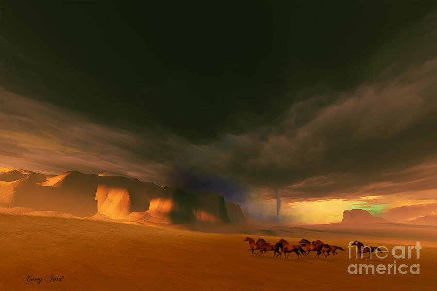 Tornado Painting - Whirlwind by Corey Ford