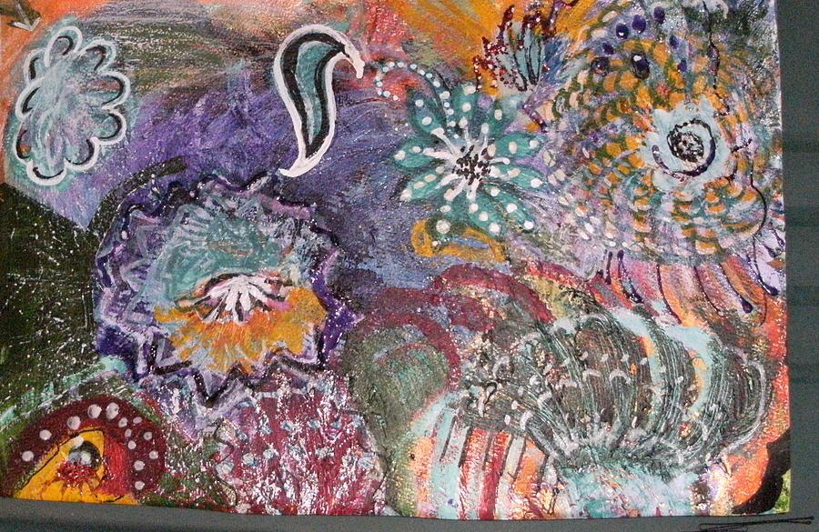 Whirls Mixed Media - Whirly Twirly World by Anne-Elizabeth Whiteway
