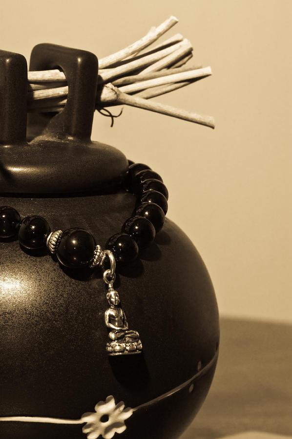 Buddhist Photograph - Whishing Jar And Buddha by Edward Myers