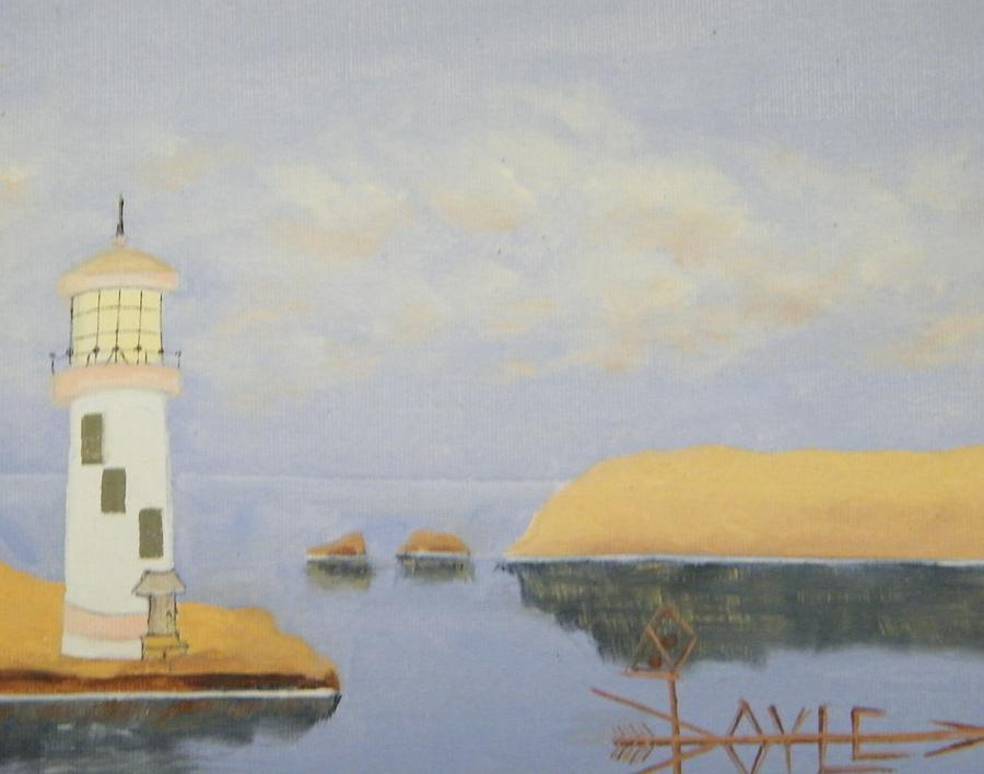 Whiskey Bay On Appleway Lighthouse Painting by Larry Doyle