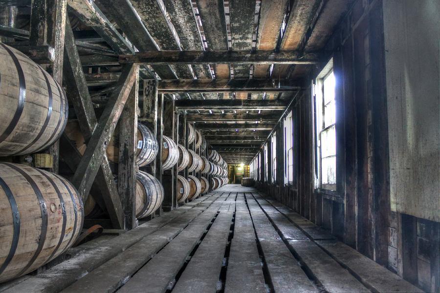 Bourbon Photograph - Whiskey Bourbon barrels wild turkey distillery kentucky by Jane Linders