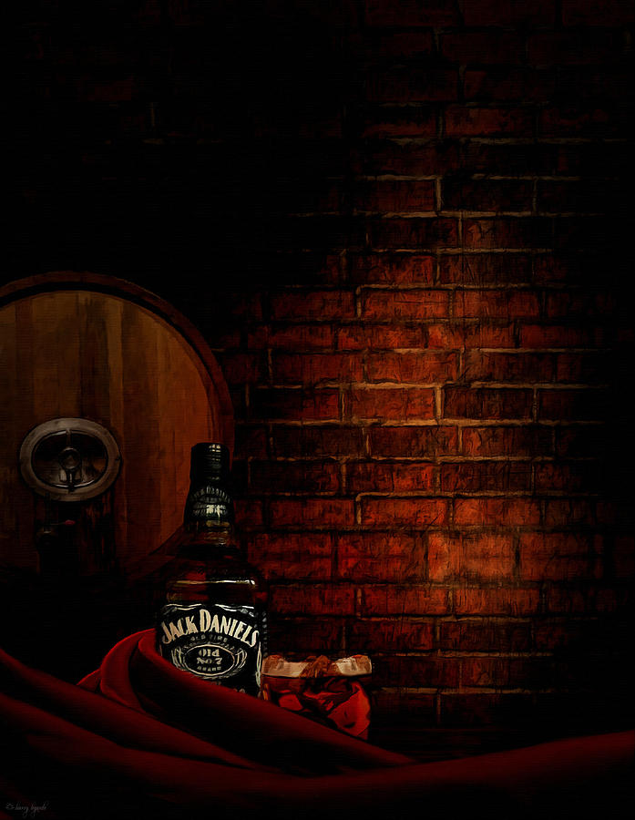 Wine Painting - Whiskey Fancy by Lourry Legarde
