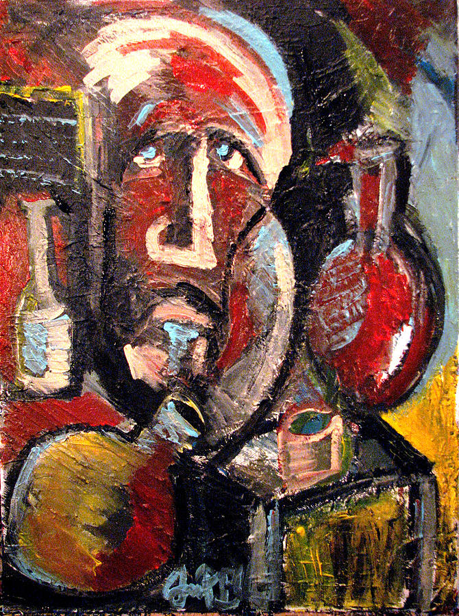 Abstract Painting - Whiskey For The Holy Ghost  by Jon Baldwin  Art
