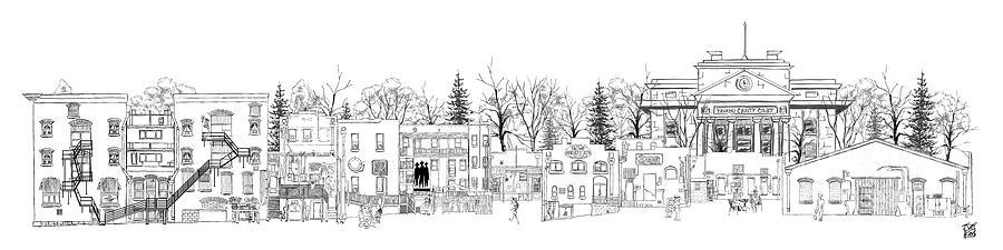 Historic Drawing - Whiskey Row Alley, Prescott by Joe King