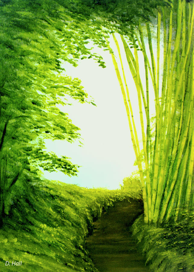 Hawaii Artist Painting - Whisper #09 by Donald k Hall