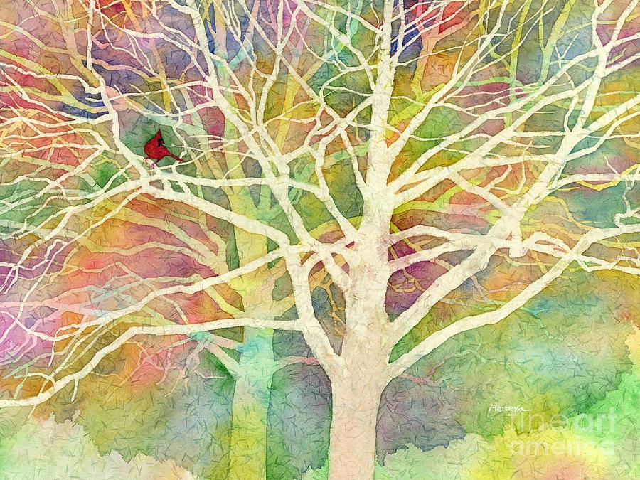 Cardinal Painting - Whisper by Hailey E Herrera