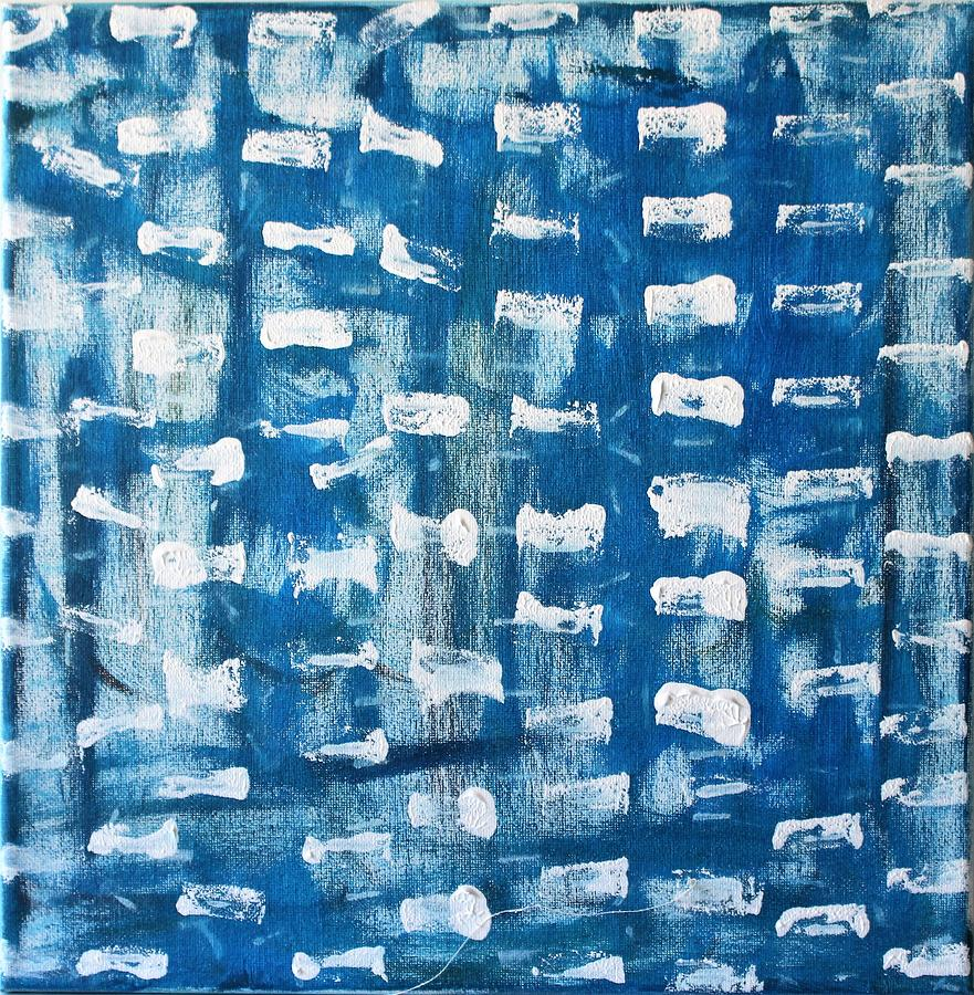 Blue Painting - Whispering Pines by Pam Roth OMara