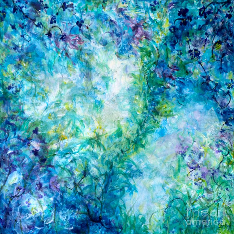 Abstract Florals Mixed Media - Whispering Songs by Christine Chin-Fook