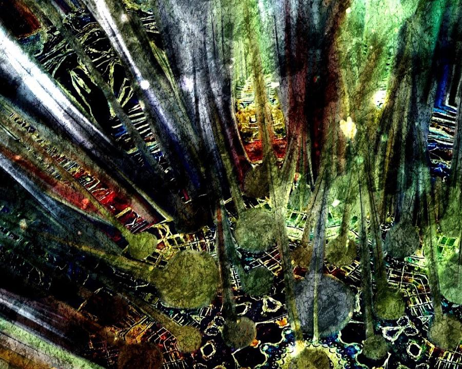 Abstract Painting - Whispers Of The Forest by Diane Liberty