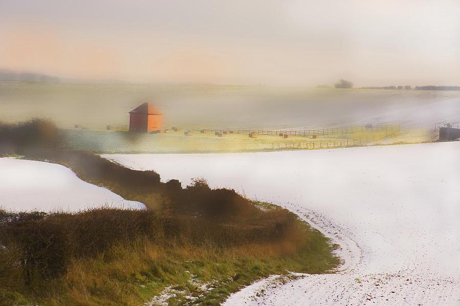 Color Digital Art - Whispy Winter Landscape by Aleck Rich Seddon