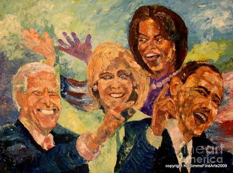 President Painting - Whistle Stop Tour Usa 2008 by Keith OBrien Simms