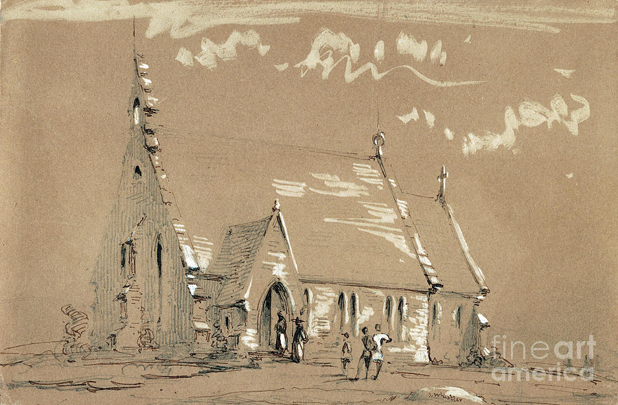 Whistler Country Church Drawing By Granger