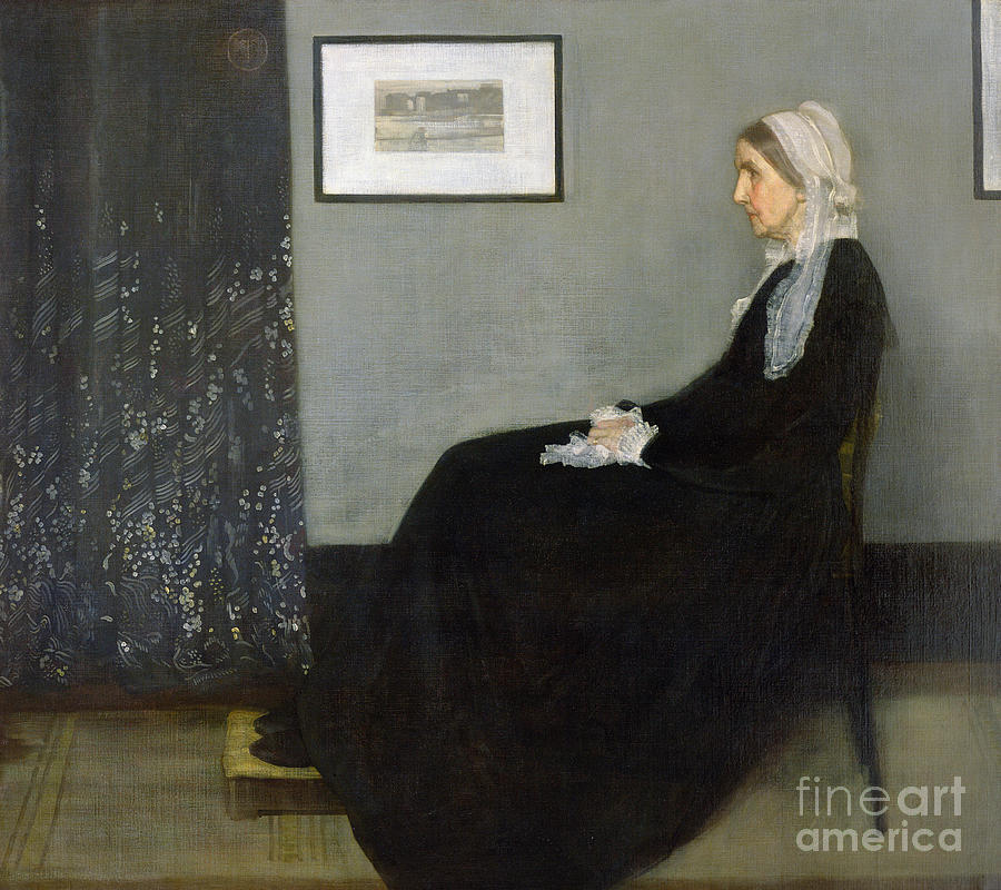 Arrangement Painting - Whistlers Mother by James Abbott McNeill Whistler