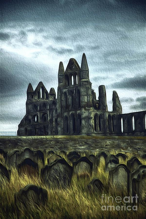 Whitby Painting - Whitby Abbey, England by John Springfield