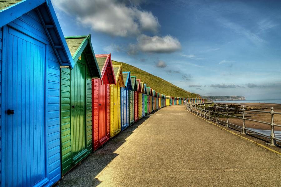 Whitby Beach Huts by Sarah Couzens