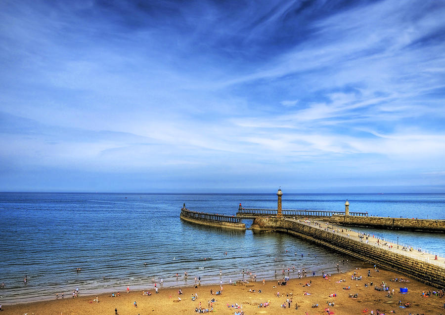 Boat Photograph - Whitby Beach by Svetlana Sewell