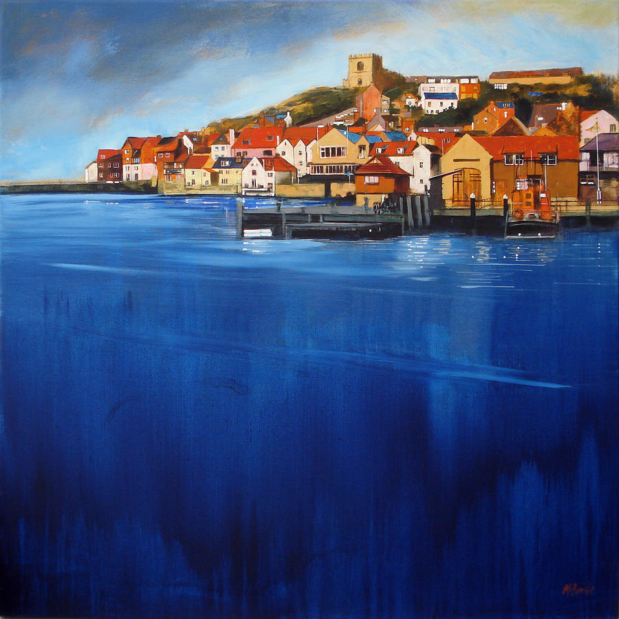 Art Painting - Whitby High Tide by Neil McBride