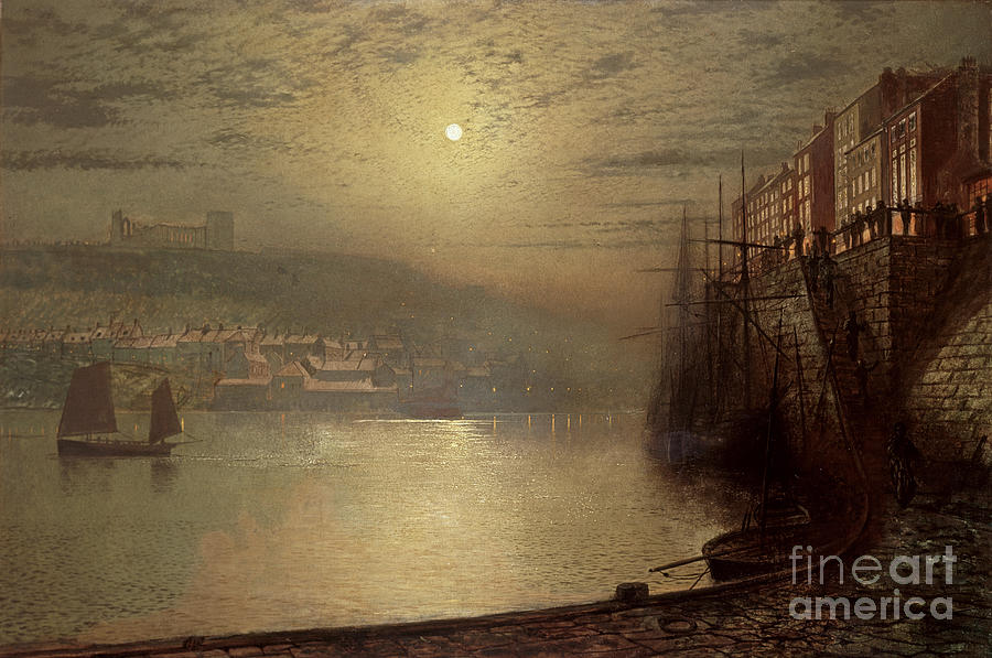 Whitby Painting - Whitby by John Atkinson Grimshaw
