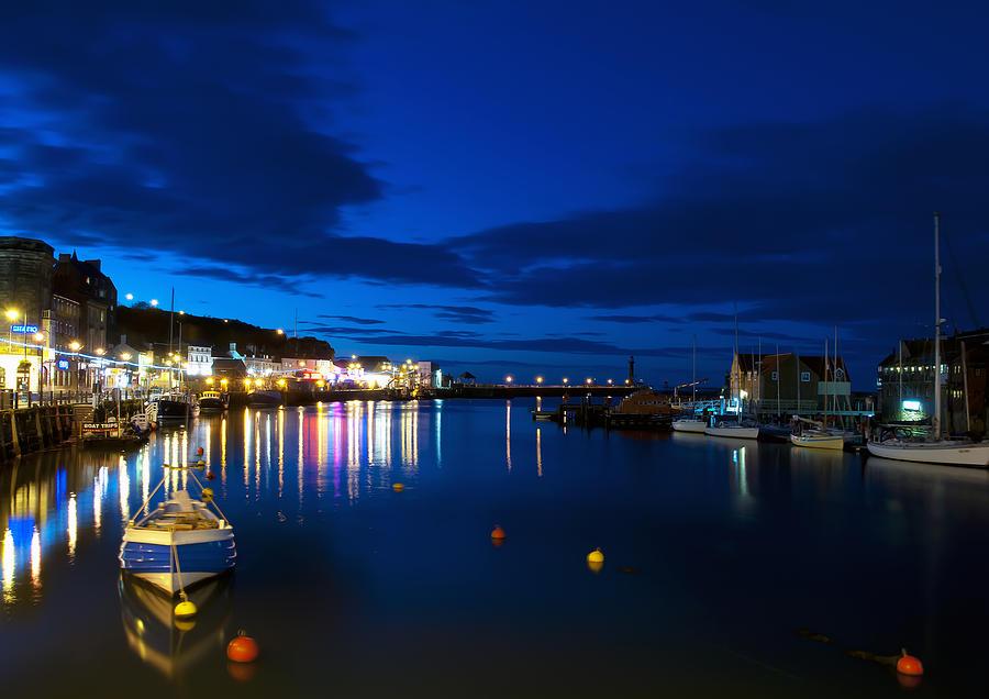 Aqua Photograph - Whitby Lights by Svetlana Sewell
