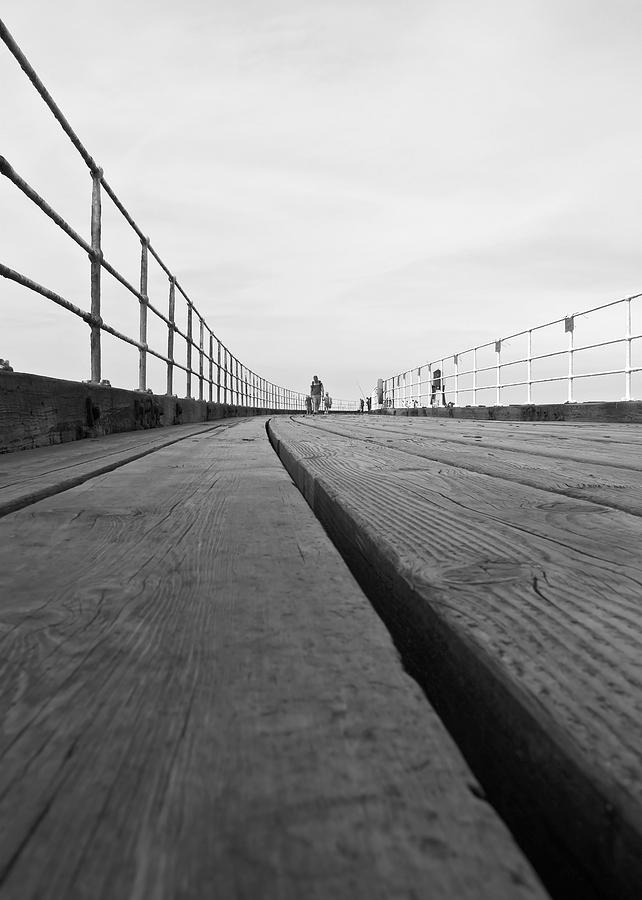 Whitby Pier Photograph - Whitby Pier by Svetlana Sewell