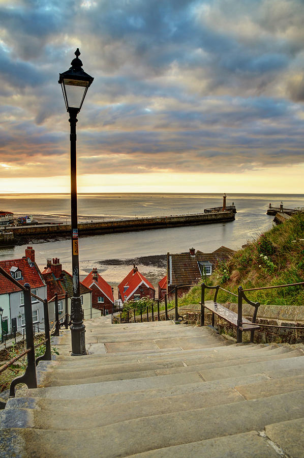Whitby Sun Set by Sarah Couzens