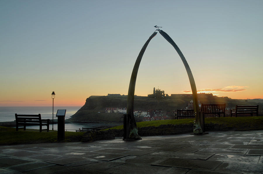 Whitby Whalebone Golden Hour by Sarah Couzens