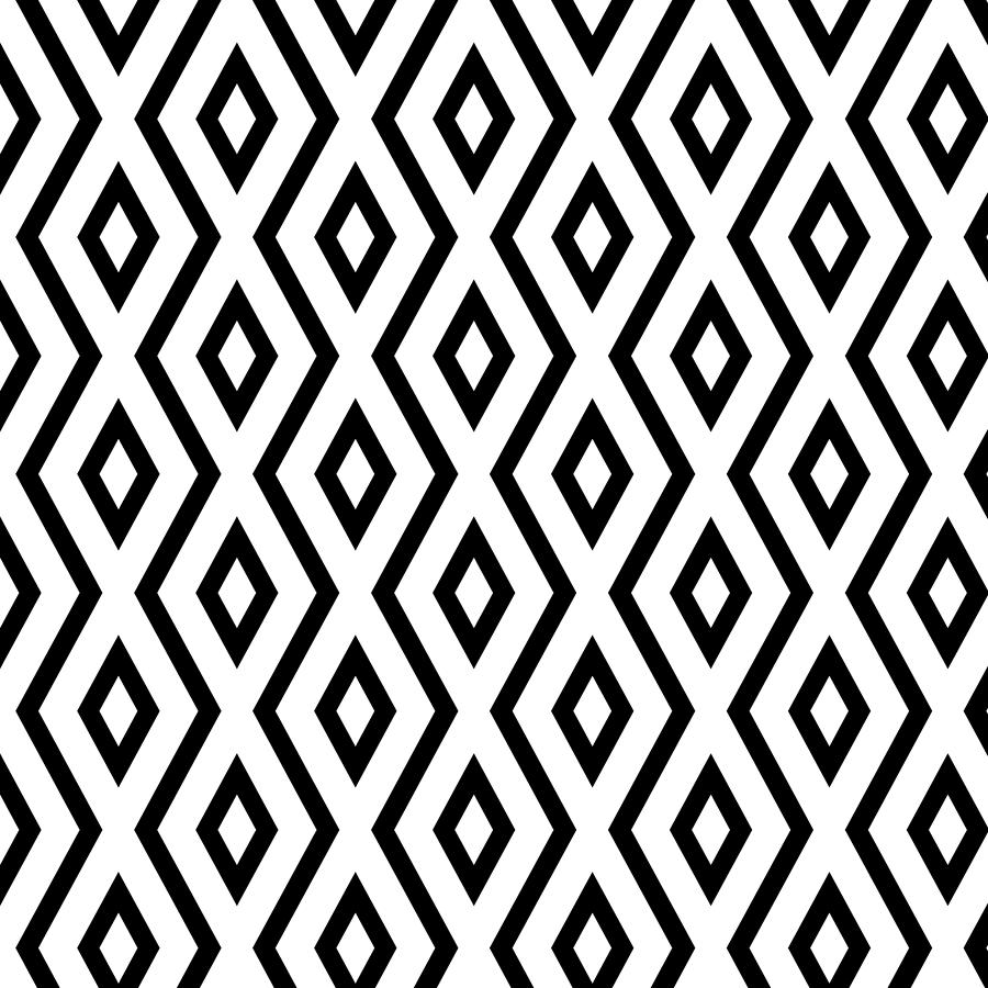 Pattern Mixed Media - White And Black Pattern by Christina Rollo