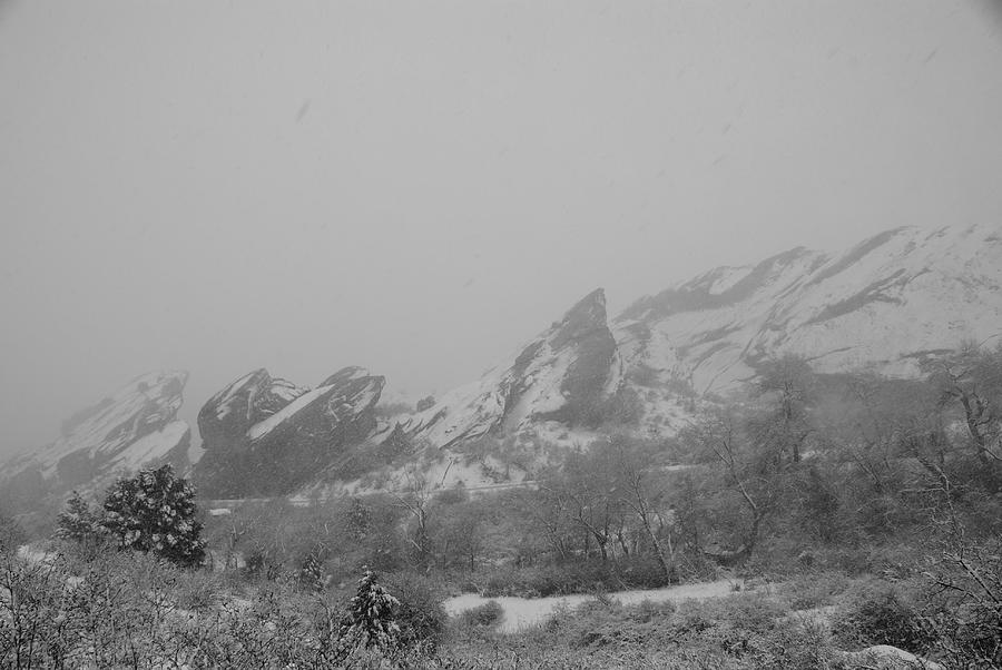 Mountains Photograph - White And Red Rocks by Brian Anderson