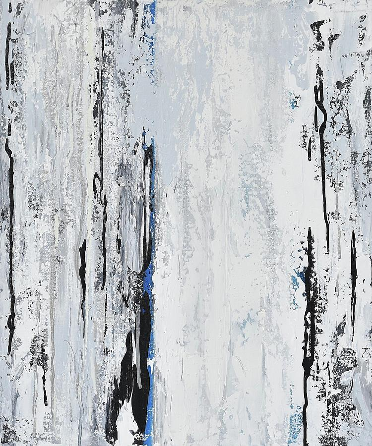 Abstract Painting - White Birch by Alice Lipping