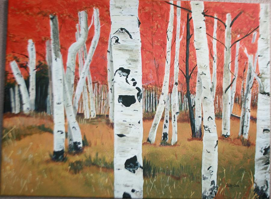 White Birch Trees Painting - White Birches by Betty-Anne McDonald