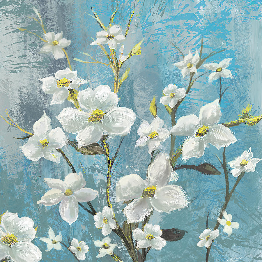 Flower Painting - White Bloom by Anthony Christou