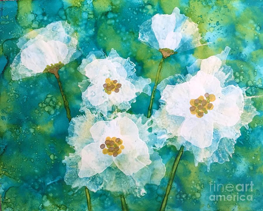 White Blooms by Beth Kluth