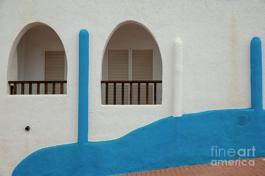 White-blue Andalusian Style Photograph