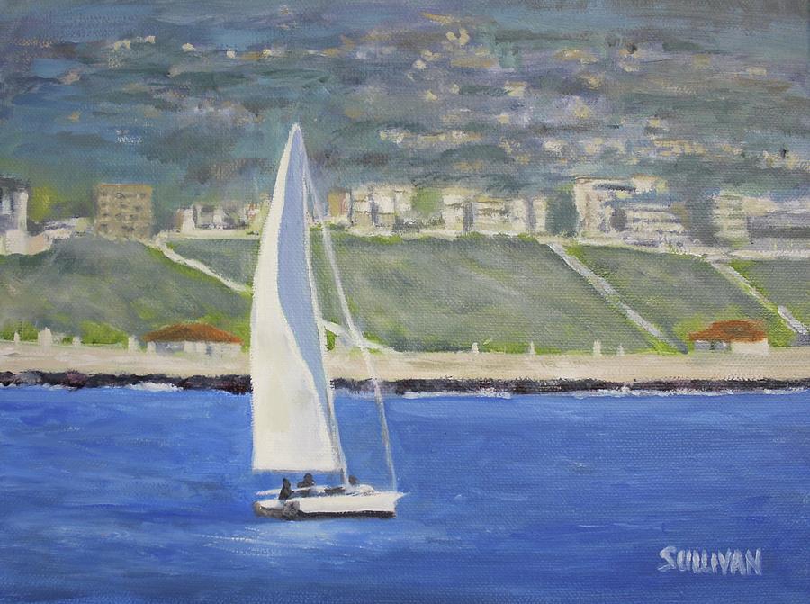 White Boat, Blue Sea by Dennis Sullivan