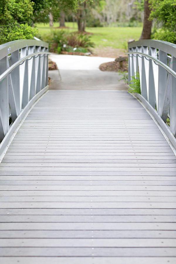 Bridge Photograph - White Bridge by Raphael Lopez
