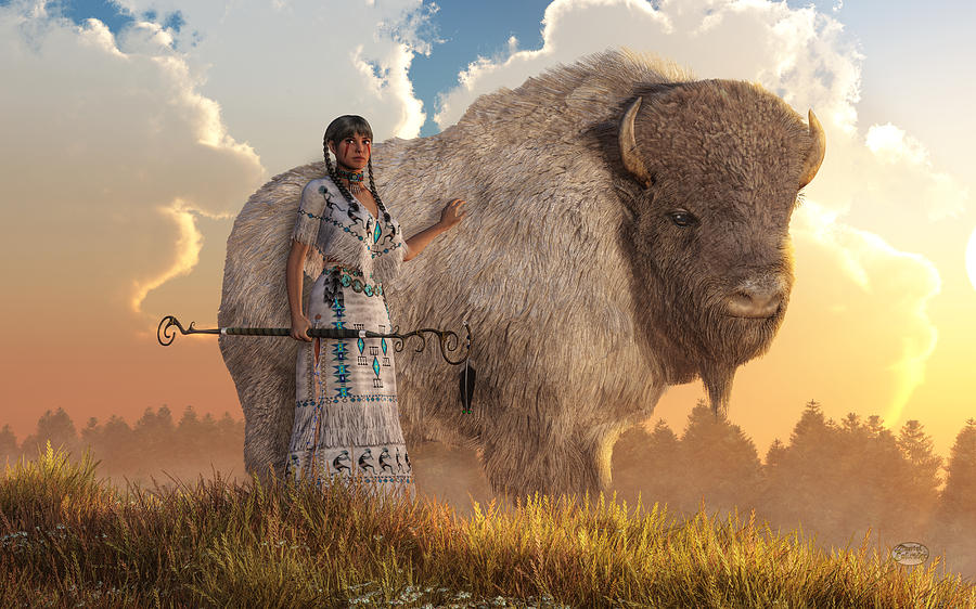 White Buffalo Calf Woman by Daniel Eskridge