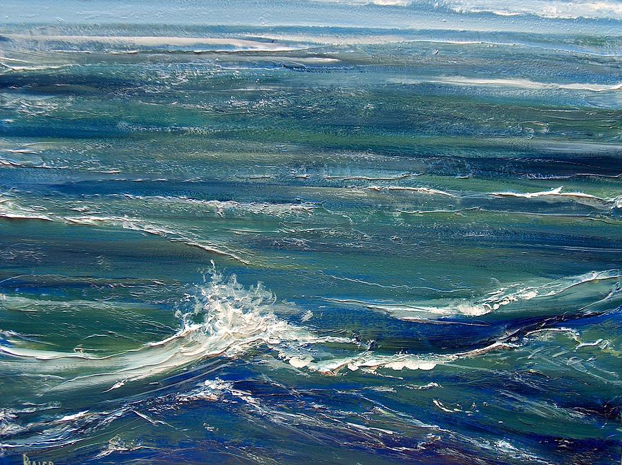 Ocean Painting - White Caps by Pete Maier