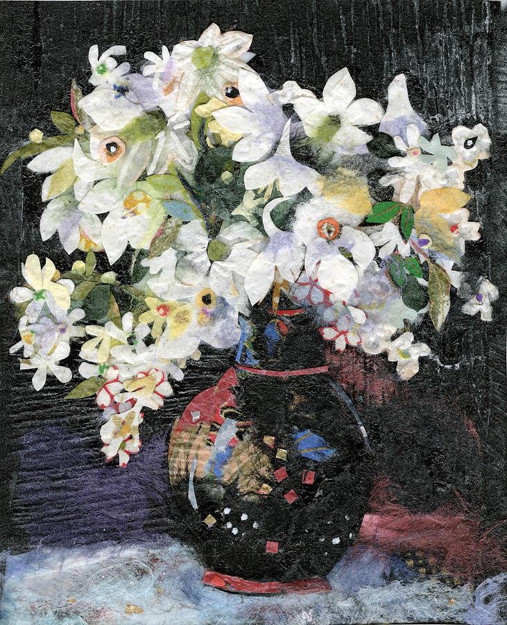 Flowers Painting - White Celebration by Nira Schwartz
