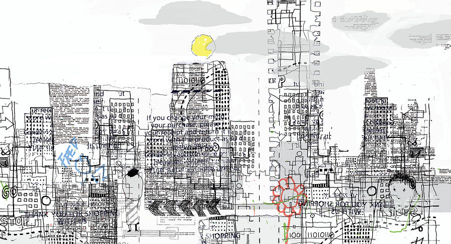Line Drawing - White City by Andy  Mercer