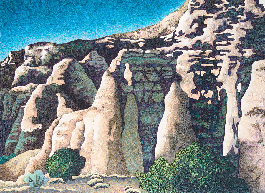 White Cliffs Drawing - White Cliffs by Dale Beckman