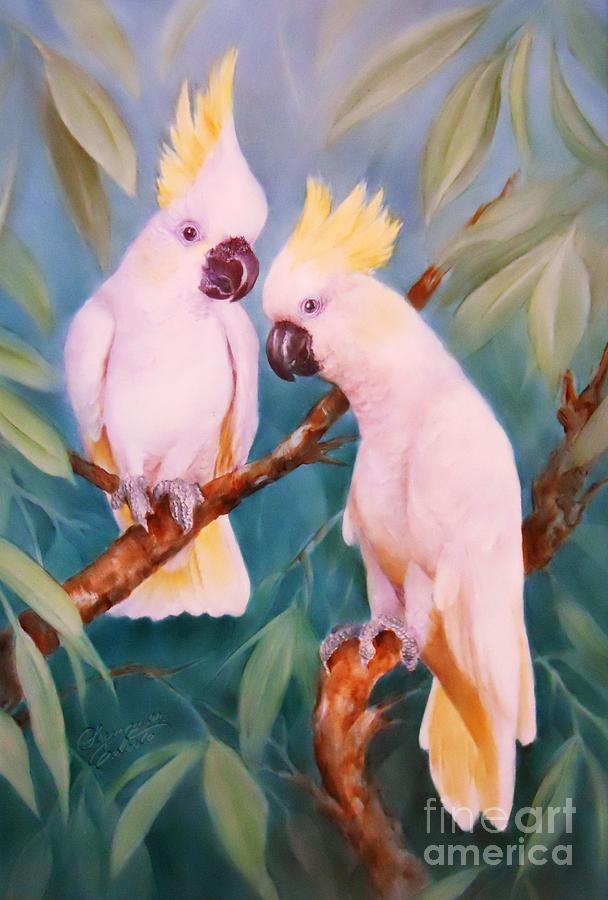 White Cockatoos by Summer Celeste