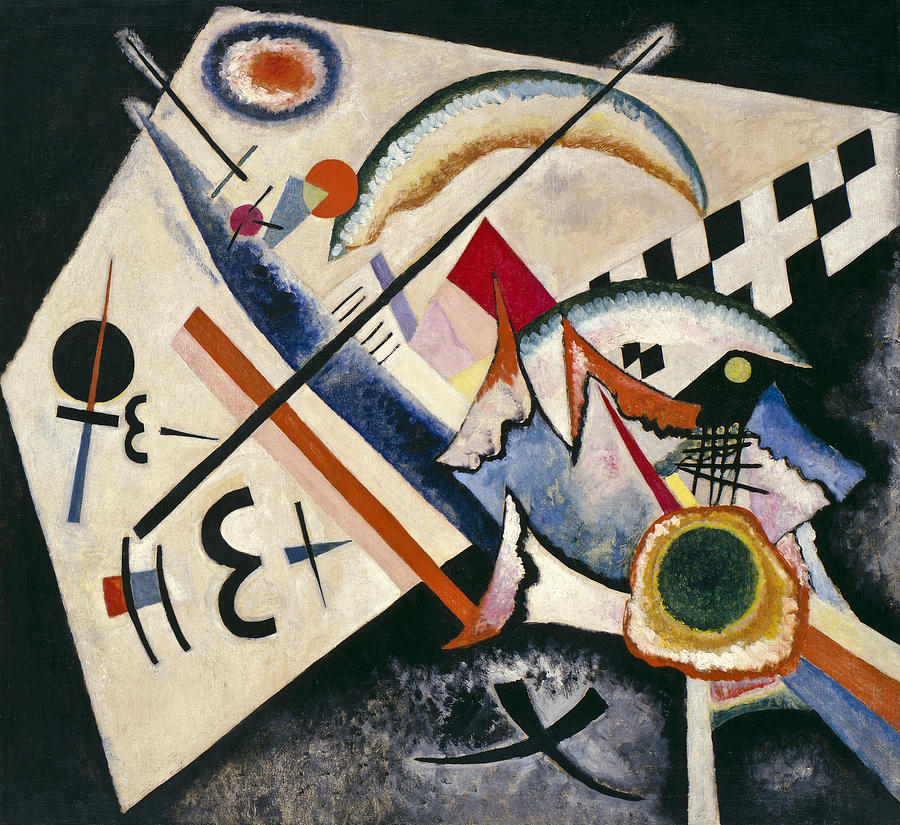 Background Painting - White Cross By Vassily Kandinsky by Vassily Kandinsky