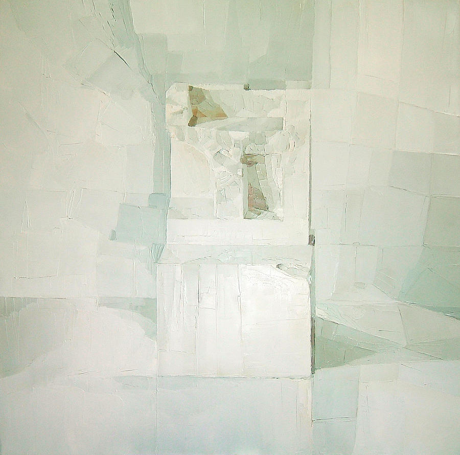 Squares Painting - White by Daniel Cacouault