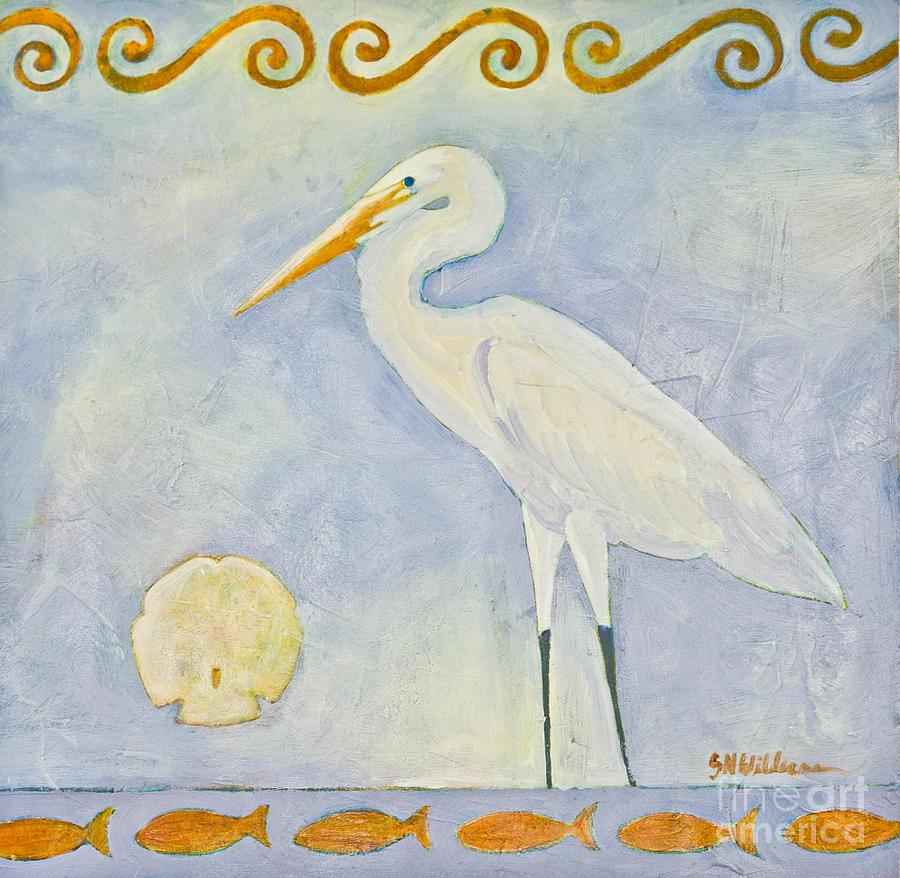 White Egret by Sandra Neumann Wilderman