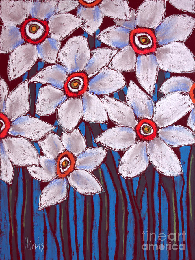 White flowers painting by david hinds daffodil painting white flowers by david hinds mightylinksfo