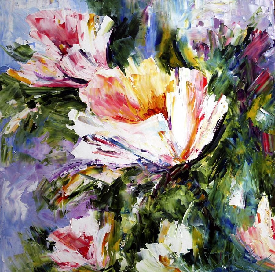 White flowers painting by laurie pace white flowers painting white flowers by laurie pace mightylinksfo