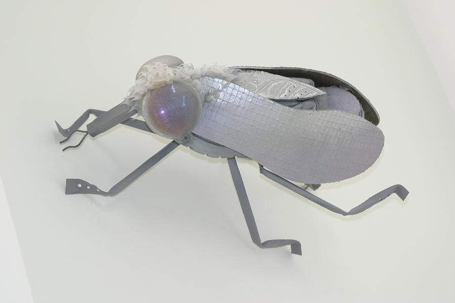 Green Mixed Media - White Fly by Michael Jude Russo
