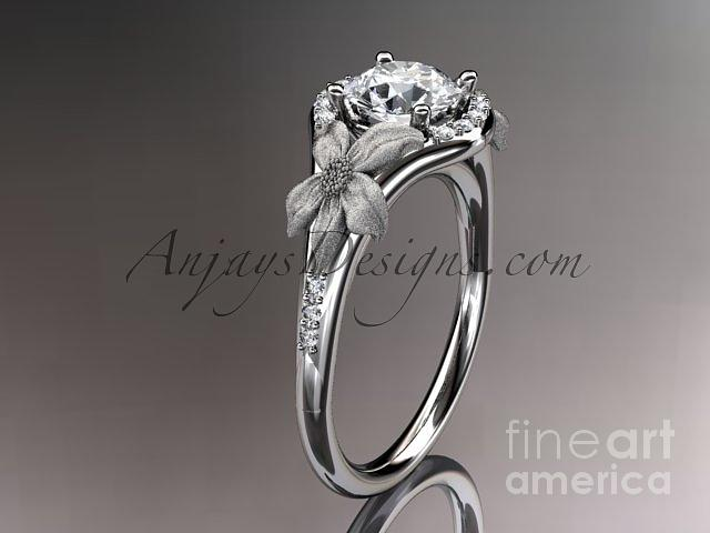 nature michael rings diamond mark ring designs leaf fantasy engagement inspired white open gold